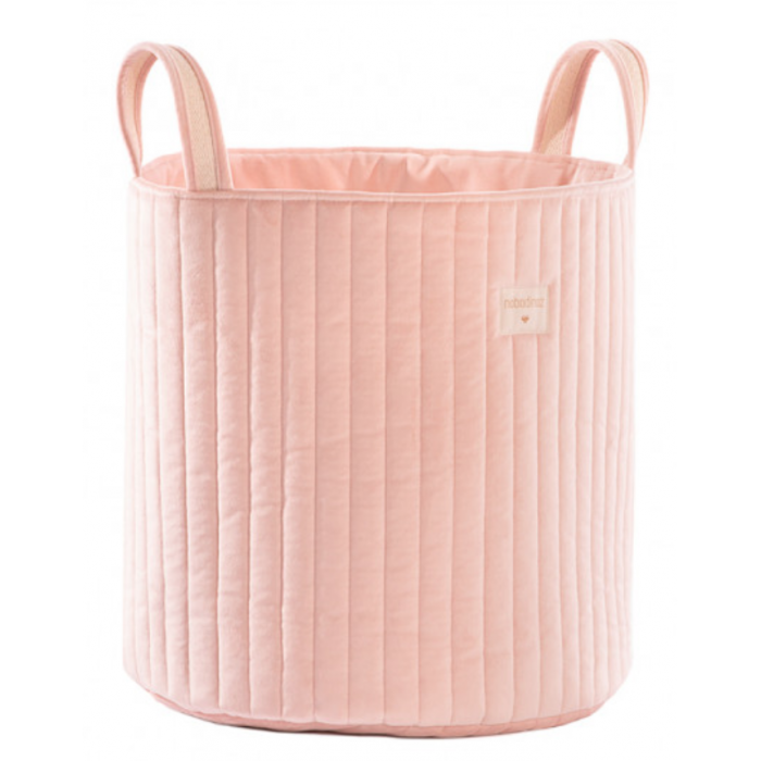 cesto de veludo bloom pink