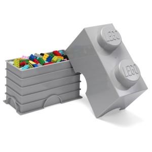 LEGO 2 ENCAIXES - CINZA MÉDIO