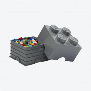 LEGO 4 ENCAIXES - CINZA ESCURO