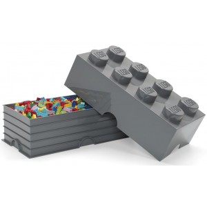 LEGO 8 ENCAIXES - CINZA ESCURO