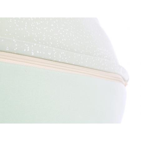 almofada amamentação grande white bubble aqua