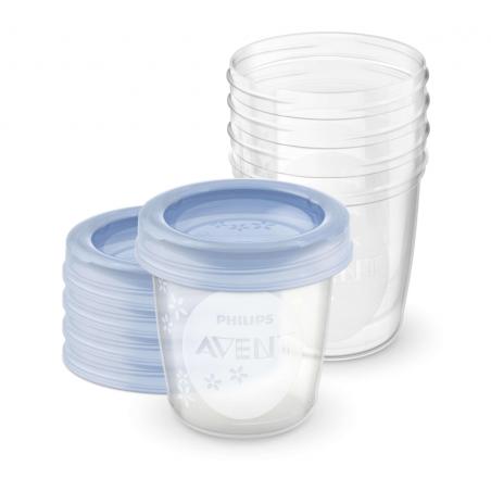 5 copos de armazenamento 180ml philips avent