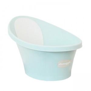 shnuggle banheira verde água com encosto branco