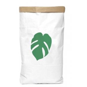 saco de papel folha verde