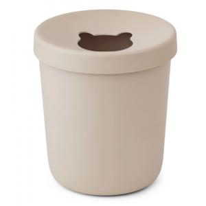 balde do lixo de bambu areia