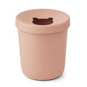 balde do lixo de bambu coral