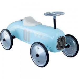 Carro de metal azul claro