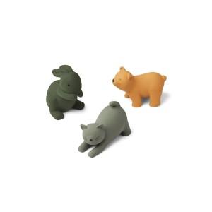 3 ANIMAIS DE SILICONE -...