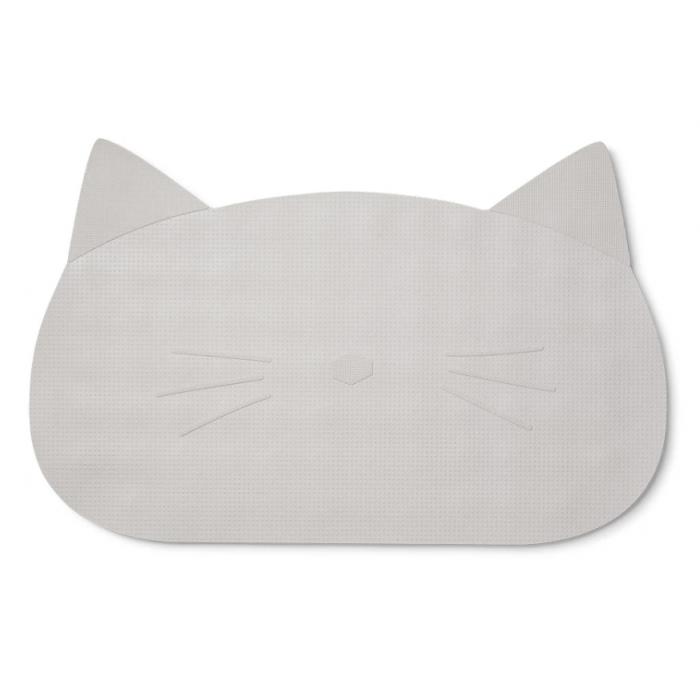 tapete de banho gato cinza